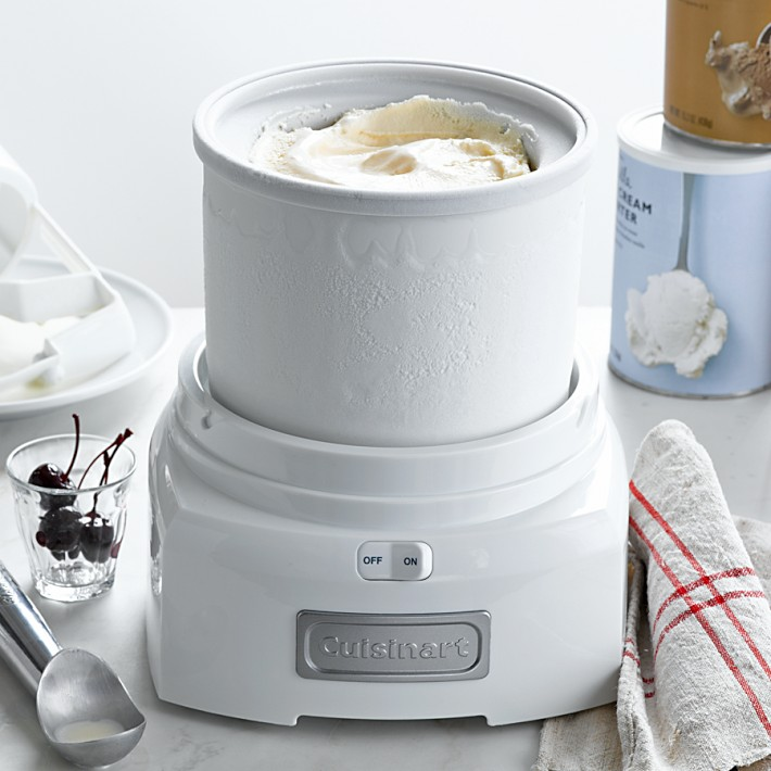 1 5 litres cuisinart ice cream maker snow white